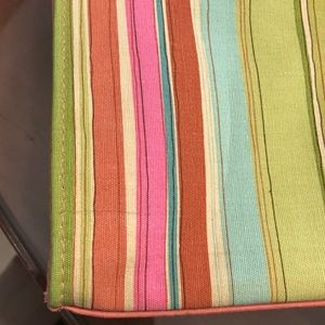 bath & body works Bags - CORAL STRIPED CANVAS TOTE